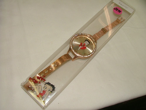 Gold Betty Boop Watch