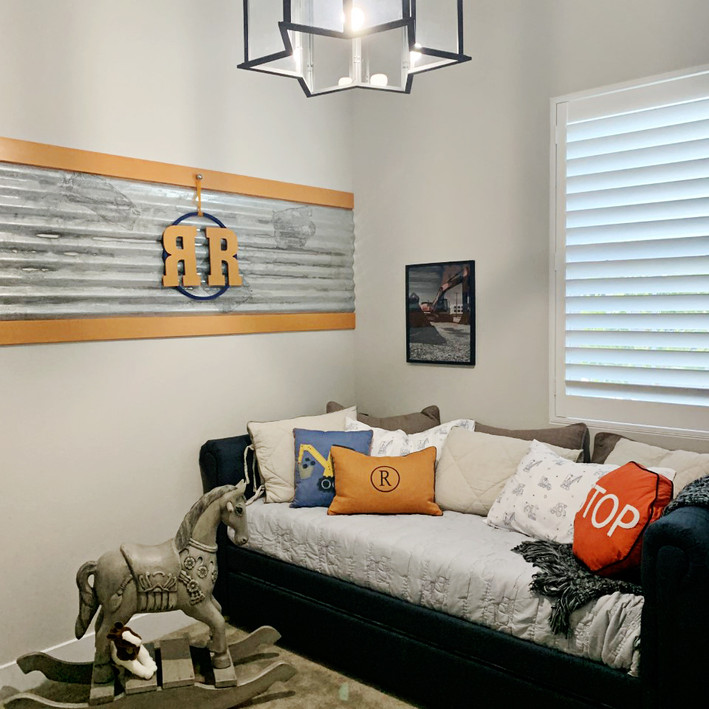 "Ridge & Roan's Room ~   ""We were so happy with the work Melissa did on the boys room! We receive countless compliments on it whenever company comes over."""