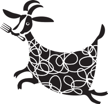 Greedy Goat Cafe/Restaurant cute goat logo