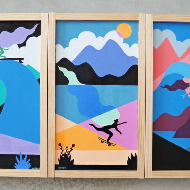 """Color Blocks"" Acrylic on wood"