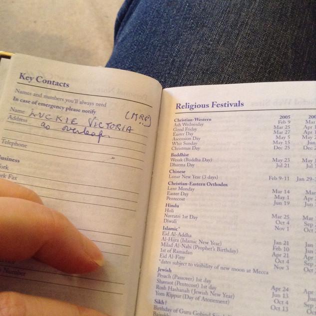 Gran's 2005 diary ©AlexCabrini