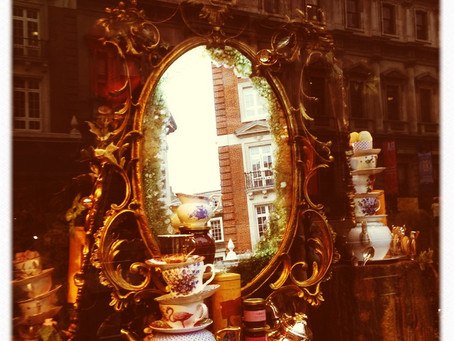 A Mad Hatter's Tea Party. Through The Looking Glass at Fortnum and Mason