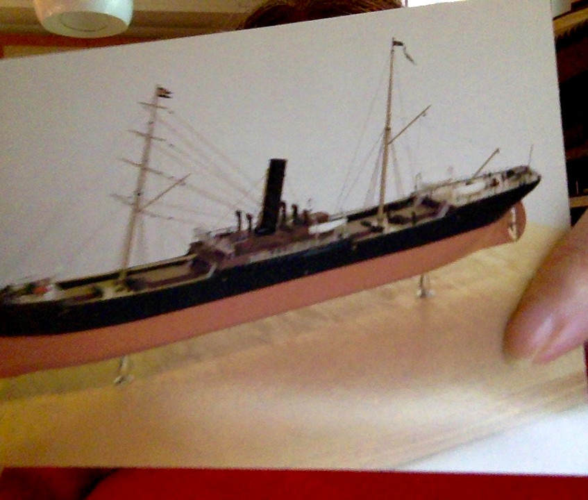 Postcard of The Strathclyde, a ship built by my Stephen forebears