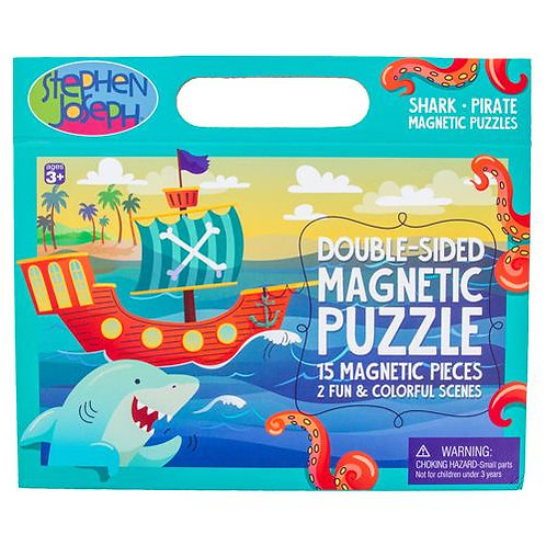 Shark Pirate Double Sided Magnet Puzzle
