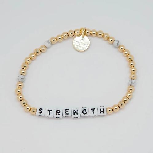 Strength (Gold) Little Words Project Bracelet