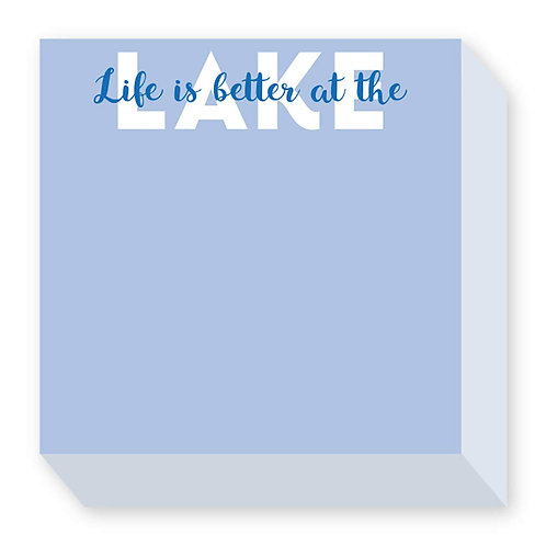 Life Is Better At The Lake Notepad