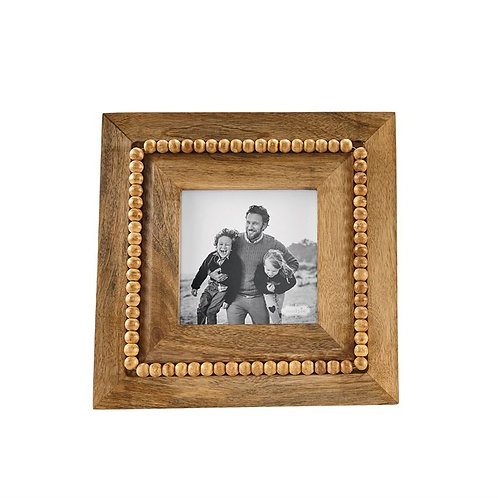 Wood Beaded Frame - 5x5