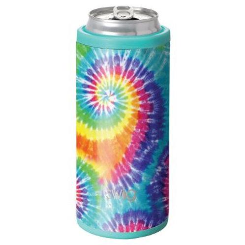 Swig 12 oz Skinny Can Cooler - Swirled Peace