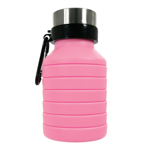 Silicone Collapsible Water Bottle - Pink