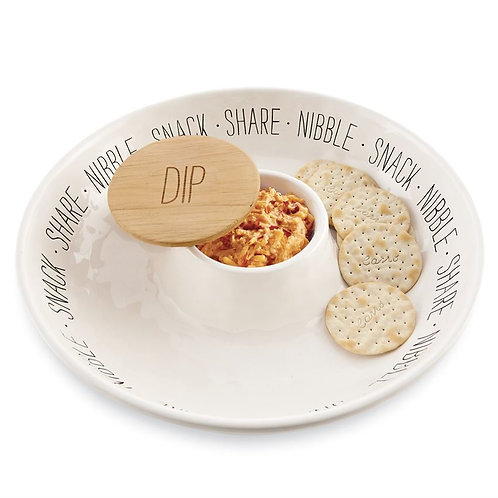 Snack Chip/Dip Dish