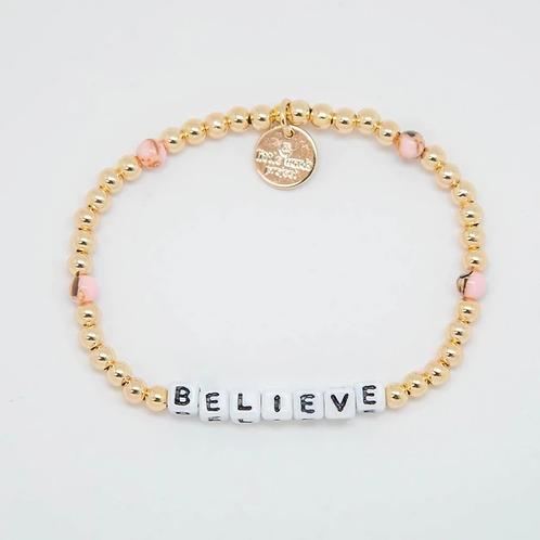 Believe (Gold) Little Words Project Bracelet