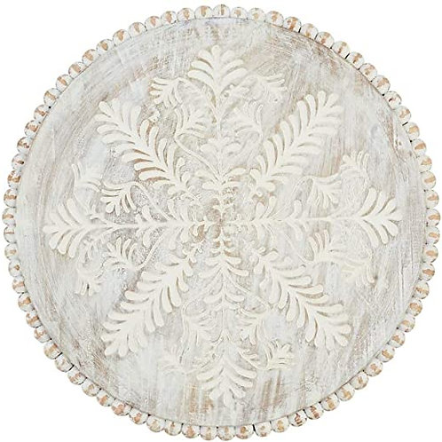 Carved Beaded Lazy Susan