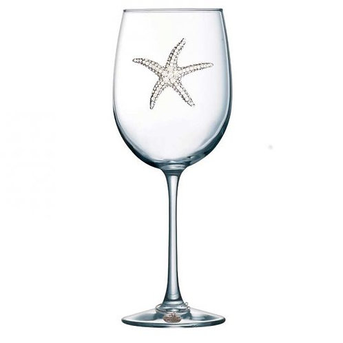 Starfish Jeweled Wine Glass