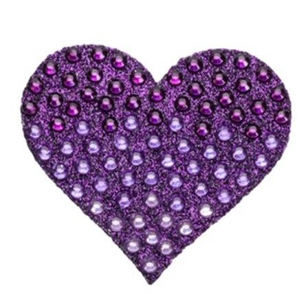 Purple Heart Stickerbean