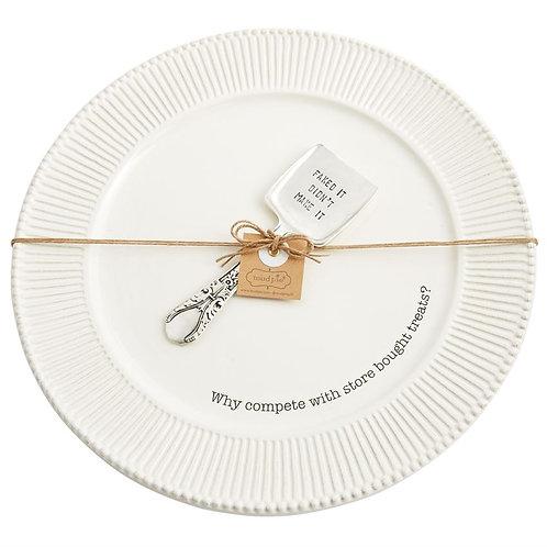 Store Bought Treats Plate Set