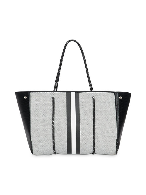 Greyson Tote - Heather Grey (Hot Pink Interior)