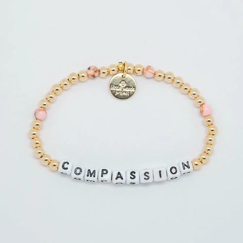 Compassion (Gold) Little Words Project Bracelet