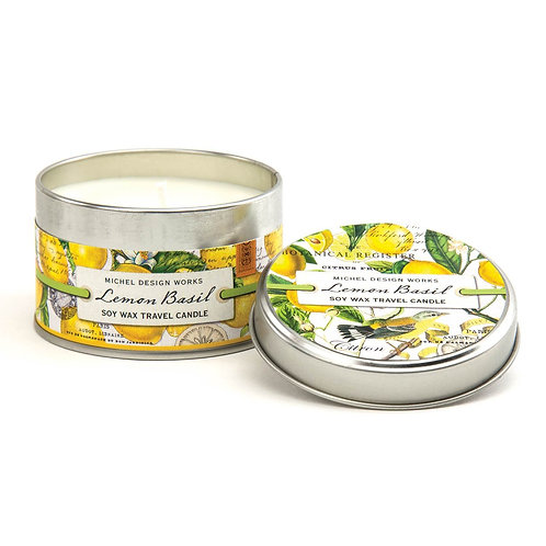 Small Tin Candle - Lemon Basil