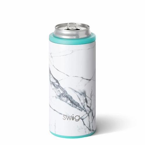 Swig 12 oz Skinny Can Cooler -Marble Slab