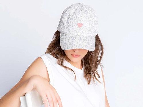 Leopard Heart Hat (PJ Salvage)