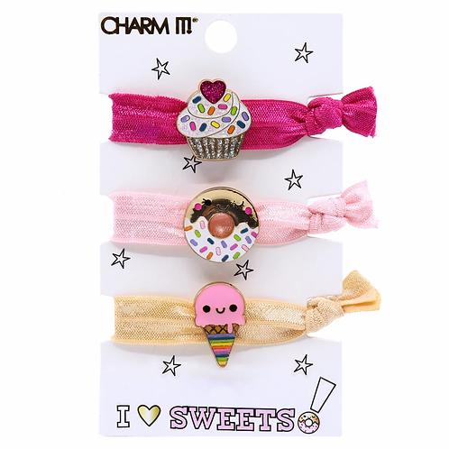 Charm It! Sweets Elastic Bracelet/Hairtie Set