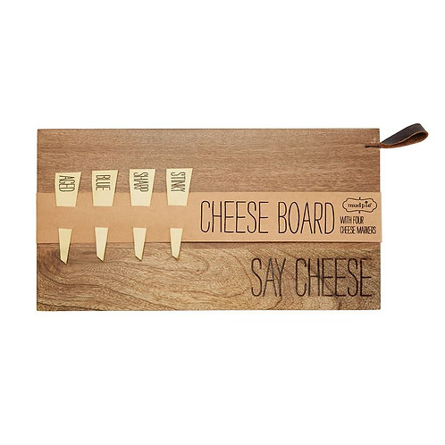 Say Cheese Serving Board & Cheese Markers