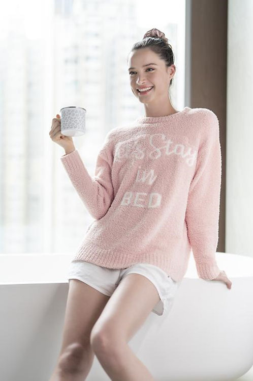 Cozy Let's Stay In Bed Sweater
