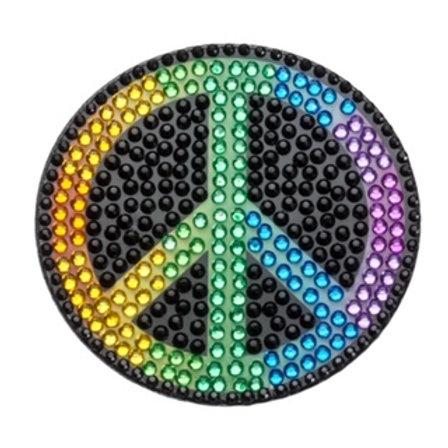 Rainbow Peace Sign Stickerbean