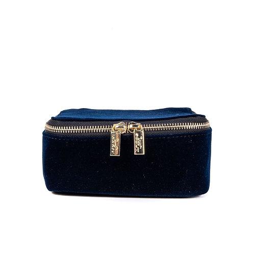Hidden Gem Jewelry Bag - Navy Velvet
