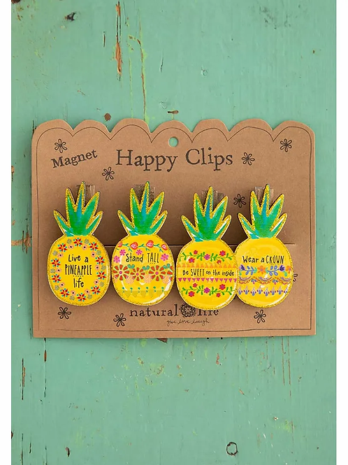 Natural Life Magnet Clips - Pineapple