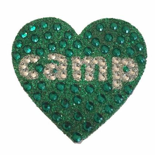 Green Camp Heart Stickerbean