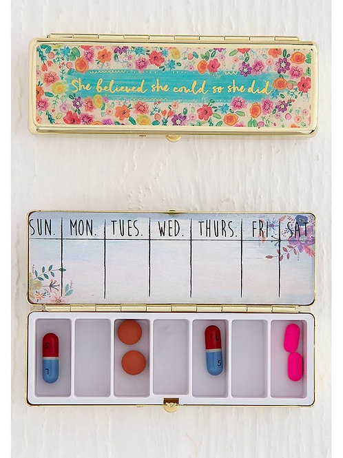 Pill Case - She Believed She Could