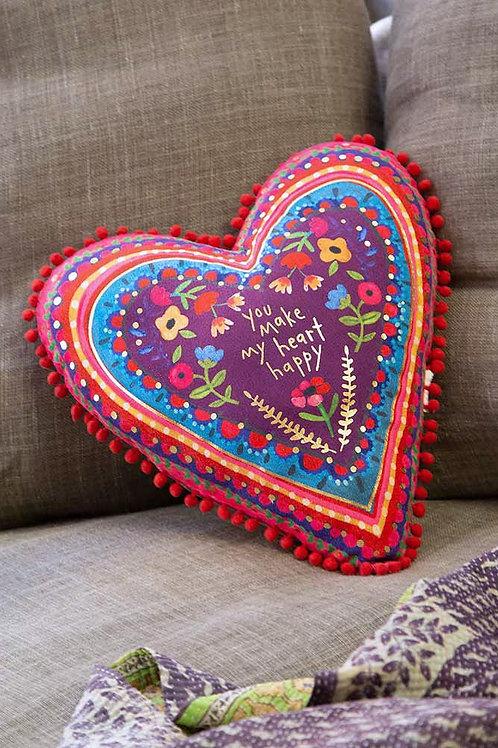 Make My Heart Happy Pillow