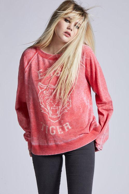 Red Easy Tiger Sweatshirt (Recycled Karma)