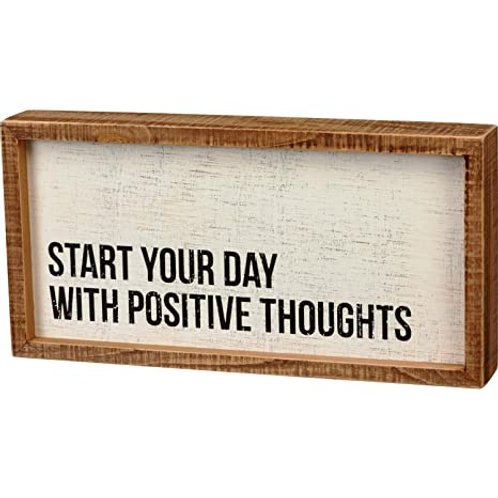 Box Sign 12 x 6 -Positive Thoughts