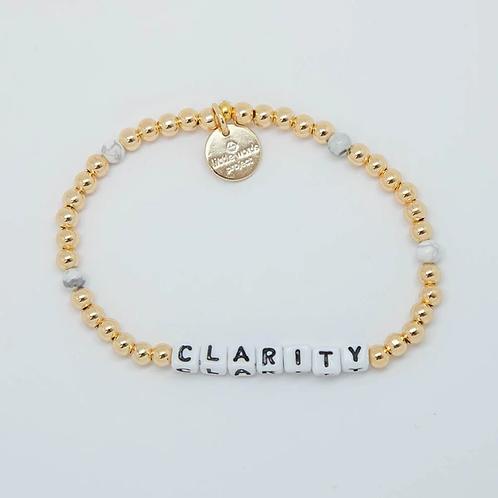 Clarity (Gold) Little Words Project Bracelet