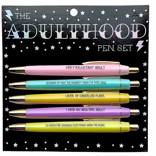 The Adulthood Pen Set