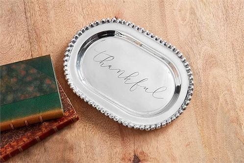 Thankful Beaded Platter