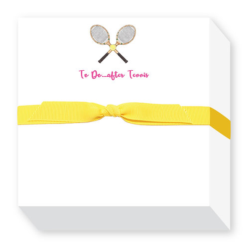 To Do After Tennis Notepad Pink Ribbon