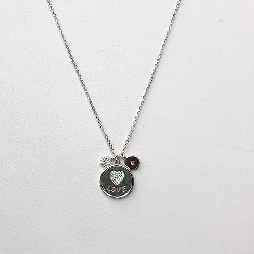 Silver Love Coin Necklace