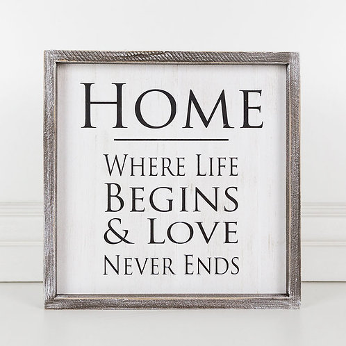 Home 12x12 Sign