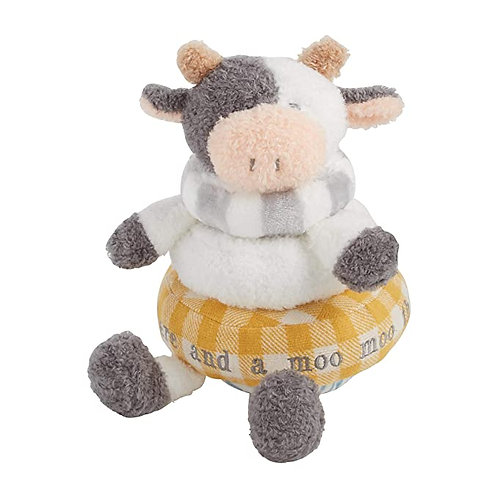 Stackable Plush Toy - Yellow Cow