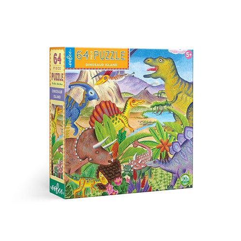 64 Pc. Puzzle - Dinosaur Island