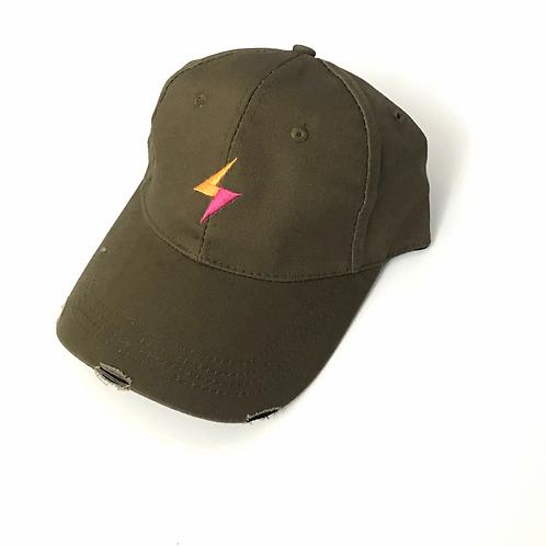 Army Green Lightning Haute Shore Baseball Hat