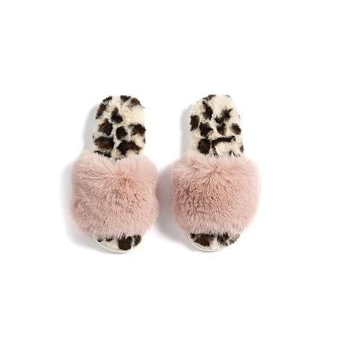 Blush & Leopard Slippers