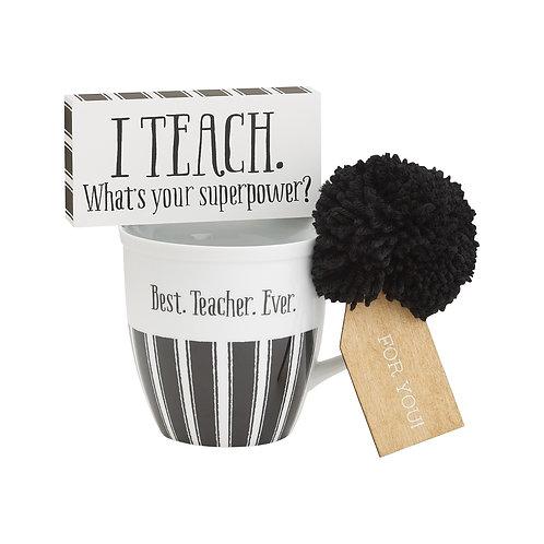 Teacher Mug And Sign Set