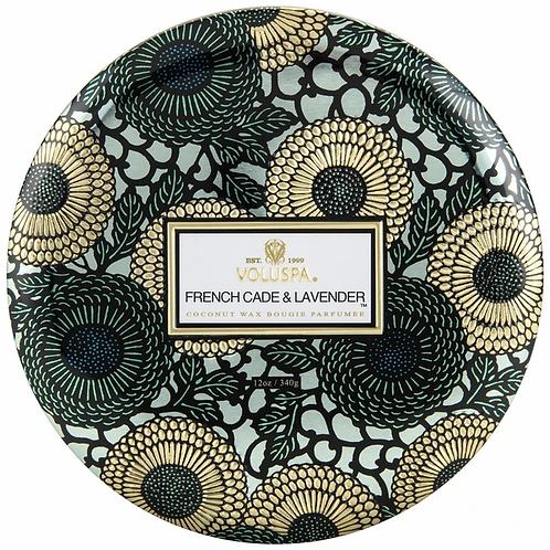 Voluspa 3 Wick Tin Candle - French Cade Lavender
