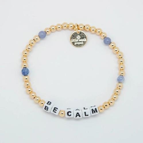 Be Calm (Gold) Little Words Project Bracelet