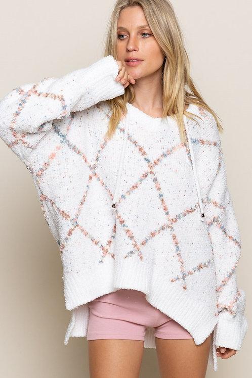 Rainbow Crisscross Hooded Sweater