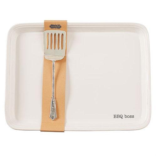 BBQ Boss Platter & Spatula Plate